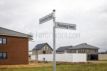 Keyenberg (neu)  Neubau Umsiedlungsstandort fuer Keyenberg  Kuckum  Unterwestrich  Oberwestrich und Berverath  Erkelenz  Nordrhein-Westfalen  Deutschland
