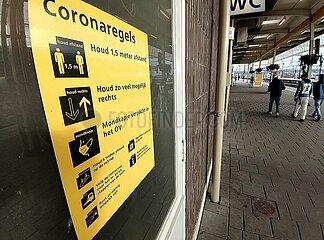 Corona-Hinweise in den Niederlanden
