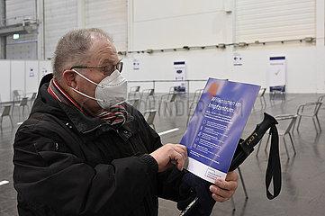 Start der Corona-Schutzimpfung im Impfzentrum der Stadt Essen