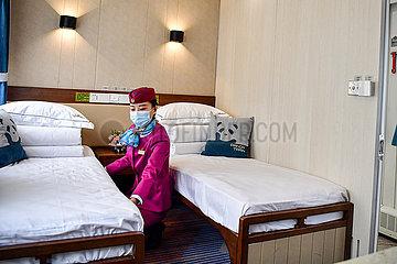 CHINA-SICHUAN-PANDA-THEMED Touristenzug (CN)