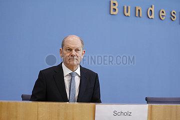 Bundespressekonferenz zum Thema: Eckwerte des Bundeshaushalts 2022 und des Finanzplans bis 2025