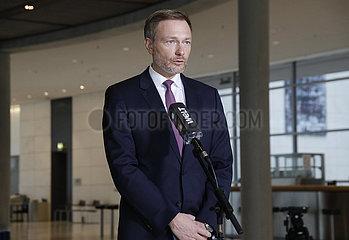 Pressekonferenz vor der Fraktionssitzung der FDP  Reichstagsgebaeude  23. Maerz 2021