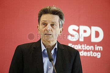 Pressekonferenz vor der Fraktionssitzung der Linken  Reichstagsgebaeude  23. Maerz 2021