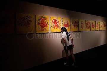 MALAYSIA-KUALA LUMPUR-chinesische Mondkalender-AUSSTELLUNG