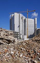 Buerogebaeude wird abgerissen  Essen  Nordrhein-Westfalen  Deutschland