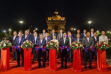 LAOS-VIENTIANE-CHINA-ländliche Armutsbekämpfung-LAUNCH
