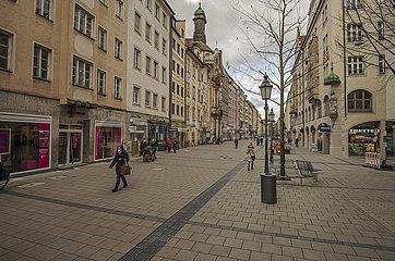 Sendlinger Strasse  Fussgaengerzone  Muenchen  Maerz 2021