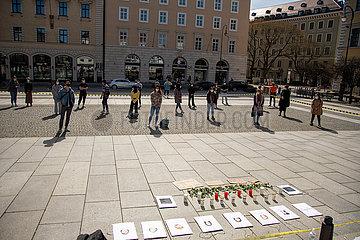 Kundgebung in Gedenken an die Opfer von Atlanta und gegen antiasiatischen Rassismus