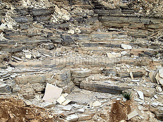 Aufgelassener Steinbruch bei Solnhofen.