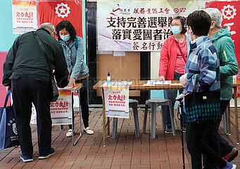 Xinhua Schlagzeilen: China wieder gut Grundgesetz Anhänge Hongkongs Wahlsystem zu verbessern