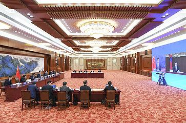CHINA Beijing-WANG YANG-TELEKONFERENZ (CN)