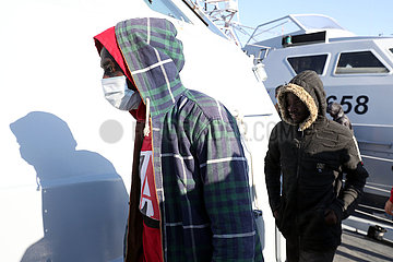 Libyen-TRIPOLIS-ILLEGAL Migranten-RESCUE