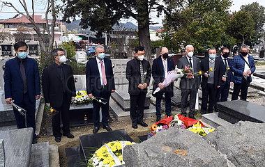 ALBANIA-TIRANA-CHINESE Botschafts qingming FEST-MEMORIAL ALBANIA-TIRANA-CHINESE Botschafts qingming FEST-MEMORIAL ALBANIA-TIRANA-CHINESE Botschafts qingming FEST-MEMORIAL