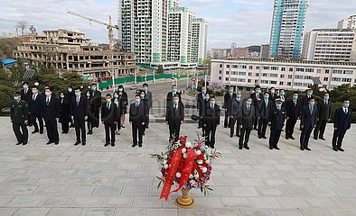 DVRK-PYONGYANG-chinesische Botschaft-CPV MARTYRS-GEDENKT