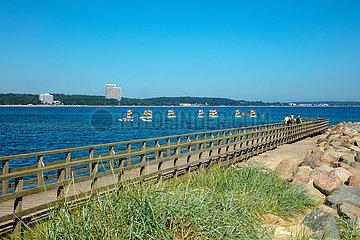 Ostseebad Niendorf. Blick auf die Ostsee