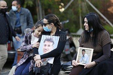 LEBANON-BEIRUT-PORT EXPLOSIONS--families-SIT-IN
