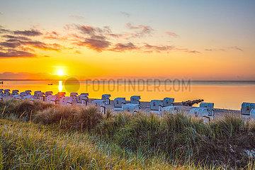 Sonnenaufgang am Strand von Haffkrug