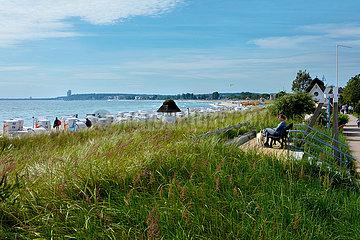 Blick über den Strand von Haffkrug