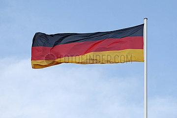 Iffezheim  Deutschland  Nationalfahne der Bundesrepublik Deutschland
