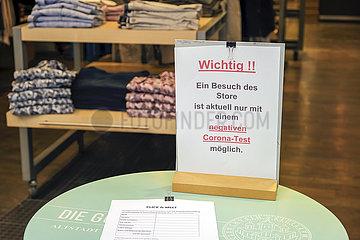 Click & Meet nur mit Coronatest  Recklinghausen  Nordrhein-Westfalen  Deutschland