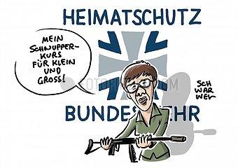 Umstrittenes Bundeswehr-Programm : Neuer Freiwilligendienst im Heimatschutz