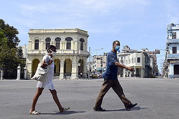 KUBA-HAVANA-COVID-19