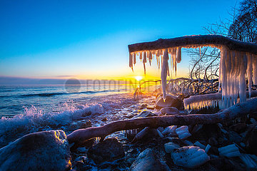 Brodtner Steilufer im Winter