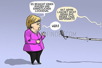 Merkel fuer Lockdown