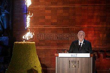 MIDEAST-JERUSALEM-Yad Vashem-Holocaust-Gedenktag