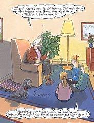 Oma erzaehlt ihren Enkeln von Wilhelm Tell