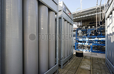 ZBT Zentrum fuer BrennstoffzellenTechnik Duisburg  Testbetankungsanlage  Nordrhein-Westfalen  Deutschland