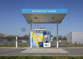 H2 Wasserstofftankstelle  Herten  Nordrhein-Westfalen  Deutschland