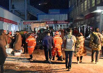 (SPOT NEWS)CHINA-XINJIANG-COAL MINE ACCIDENT-RESCUE (CN)