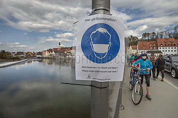 Maskenpflicht  Landsberg am Lech  April 2021