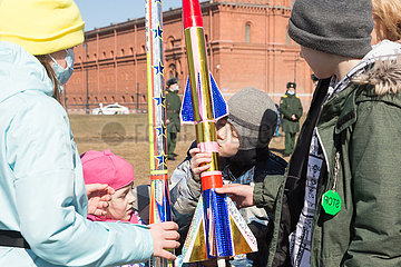 RUSSIA-ST. PETERSBURG-FIRST HUMAN SPACE FLIGHT-60TH ANNIVERSARY-COMMEMORATION
