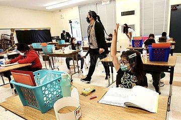 US-LOS ANGELES-COVID-19-Schulen-REOPEN
