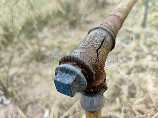 Geplatzte Wasserleitung