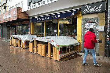 Deutschland  Hamburg - Die Reeperbahn im Stadtteil St.Pauli in der Corona-Tristesse