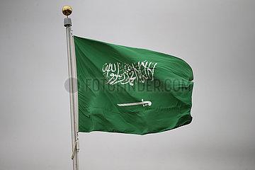 Riad  Saudi-Arabien  Nationalfahne von Saudi-Arabien