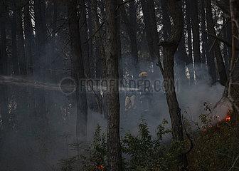 NEPAL-KATHMANDU-WILDFIRE