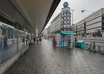leere Bayerstrasse  Muenchen  13.04.2021