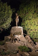 Polen  Wroclaw (Breslau) - die Jagende Diana (Goettin der Jagd)