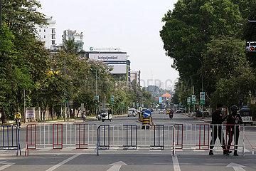 KAMBODSCHA-PHNOM PENH-SPERRE-COVID-19
