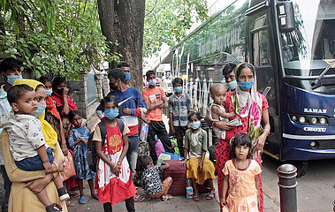 INDIA-BANGALORE-MIGRANT WORKERS-COVID-19