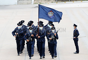 CHINA-HONG KONG-NATIONAL SECURITY EDUCATION DAY-POLICE-FLAG-RAISING CEREMONY (CN)