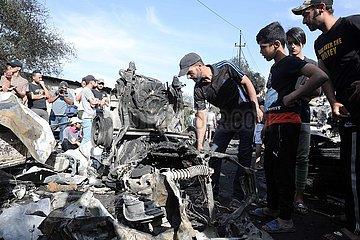 IRAQ-BAGHDAD-CAR BOMB-EXPLOSION