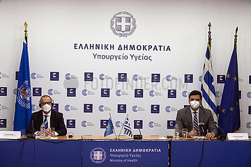 GREECE-ATHENS-WHO-PRESS CONFERENCE