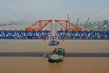 CHINA-ZHEJIANG-Hangzhou-RAILWAY-GRAND BRIDGE-CONSTRUCTION (CN)