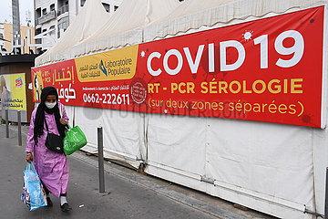 MOROCCO-CASABLANCA-COVID-19-CASES