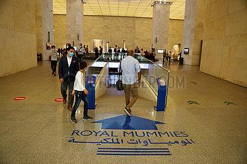 ÄGYPTEN-KAIRO-NMEC-ROYAL MUMMIES'HALL-OPEN